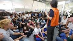 Palestra na 9ª Feira de profissões. Foto: Marcos Santos/USP Imagens