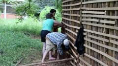 Construção da Casa de Cultura Indígena. IP - Instituto de Psicologia.  2017/02/14 Foto: Marcos Santos/USP Imagens