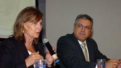 Helena Ribeiro e Alexandre Padilha. Foto: Cecilia Bastos / Jornal da USP