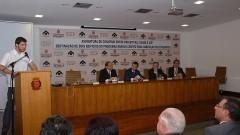 Henrique Pecora, João Grandino Rodas, Gilberto Kassab, Sylvain Itté e Ricardo Leite. Foto: Francisco Emolo/ Jornal da USP