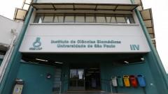 reg. 125-16 ICB Coletiva de Imprensa. Zika brasileiro mata células cerebrais e diminui crescimento de fetos e camundongos. Fachda do prédio do ICB IV onde foi dada a coletiva de imprensa. 11/05/2016 Foto: Marcos Santos/USP Imagens