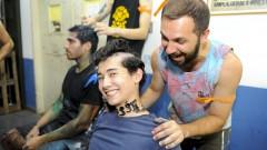 reg. 030-16 Calouros 2016. Calouros recebe trote na IGC - Instituto de Geociências. 2016/02/11 Foto Marcos Santos