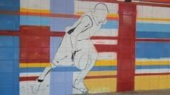 Muro do Centro de Práticas Esportivas da USP (Cepeusp) - Foto: Pedro Bolle / USP Imagens