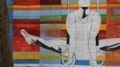 Grafite no muro do Centro de Práticas Esportivas da USP (Cepeusp) - Foto: Pedro Bolle / USP Imagens
