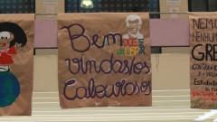 Manifestação de diversidade linguística e de gênero na recepção aos calouros na FFLCH -História e Geografia. 2017/02/13 Foto: Caio de Benedetto/USP Imagens