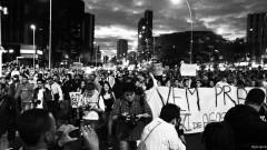 Manifestantes caminham pela Av Faria Lima com Av Rebouças. George Campos / USP Imagens