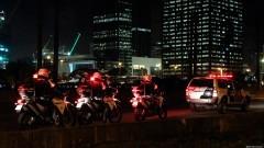 Polícia acompanha a distância abrindo caminho para os manifestantes na Marginal Pinheiros. George Campos / USP Imagens