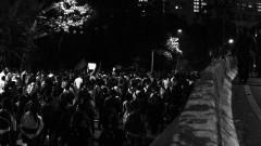 Manifestantes em caminhada pela marginal pinheiros . George Campos / USP Imagens