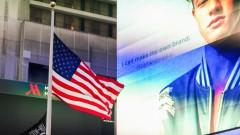Bandeira Americana vista no Time Square - Estados Unidos, Nova York – George Campos / USP Imagens
