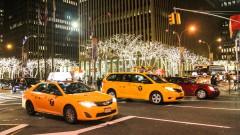 Taxis em vista noturna em Nova York - Estados Unidos – George Campos / USP Imagens
