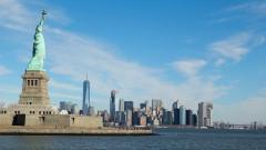 Estátua da Liberdade e Manhattan ao fundo  - Nova York, Estados Unidos – George Campos / USP Imagens