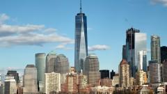 Edifícios de Manhattan com destaque para maior, One World Trade Center, construído no local das antigas Torres Gêmeas  - Nova York, Estados Unidos – George Campos / USP Imagens