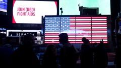 Bandeira Americana na Time Square - Nova York, Estados Unidos – George Campos / USP Imagens