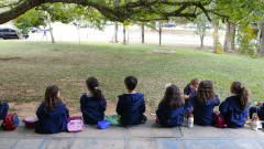 reg. 105-16 IO. Crianças do colégio Pollux em visita ao Museu do IO.  Visita de Escolas ao Instituto Oceanográfico - IOUSP. 27/04/2016 Foto: Marcos Santos