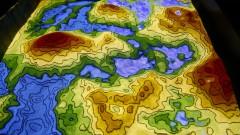 reg. 105-16 IO. Topografia interativa e lúdica (caixa de areia). Visita de Escolas ao Instituto Oceanográfico - IOUSP. 27/04/2016 Foto: Marcos Santos