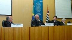 Jacques Marcovith, Umberto Cordani, Tércio Ambrizzi e Pedro Roberto Jacobi. Foto: Francisco Emolo/Jornal da USP