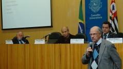 Jacques Marcovith, Wagner Costa Ribeiro, Edmilson Dias de Freitas e Arlindo Philippi Jr. Foto: Francisco Emolo/Jornal da USP
