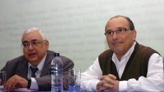 Palestra de Jean Lauand_ Roberto Castro no Seminário Filosofia e Educação_ Universidade. Foto: Cecília Bastos/Jornal da USP