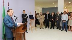 Reitor João Grandino Rodas, na inauguração do Bloco Didático da FOFITO FMUSP. Foto: Francisco Emolo/Jornal da USP
