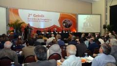 Reitor João Grandino Rodas, no 2º Encontro de Dirigentes da USP (GEINDI). Crédito: Francisco Emolo/Jornal da USP
