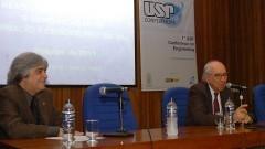 José Roberto Piqueira e Rui Carlos Vieira, 1ª Conference on Engineering. Foto: Francisco Emolo/Jornal da USP. Foto: Francisco Emolo/Jornal da USP