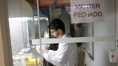 Coleta de dados com alunos de residência e graduação no Laboratório de Morfo-Fisiologia Molecular e desenvolvimento da Faculdade de Zootecnia e Engenharia de Alimentos do campus de Pirassununga.