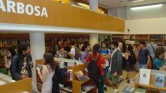 """Lançamento dos livros """"O Império dos Livros"""" e """"História do PT"""" na Livraria João Alexandre Barbosa da EDUSP. Foto: Francisco Emolo/Jornal da USP"""