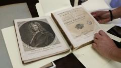 IAG. 21ª Semana de Arte e Cultura. Livros raros do IAG. Detalhe do livro de Edmond Halley pertencente ao acervo do IAG. 2016/09/15 Foto: Marcos Santos/USP Imagens