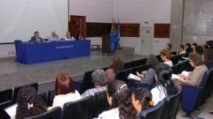 Luiz Costa Pereira Jr, Jean Lauand e Roberto Castro no Seminário Filosofia e Educação_ Universidade. Foto: Cecília Bastos/Jornal da USP