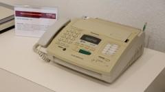 Máquina de Fax Panasonic KX-FP 200 fabricado em 1999. Museu de Computação Professor Odelar Leite Linhares. 2017/10/05 Foto Marcos Santos/USP Imagens