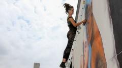 Mag Magrela. As Artistas Jü Violeta e Mag pintam, a convite da ONU Mulheres painel na Semana de arte HeForShe no Espaço das Artes, atigo prédio do MAC na cidade Universitária. 2017/03/08 Foto: Marcos Santos/USP Imagens
