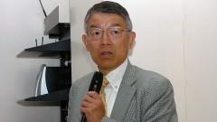 Minoru Yoshida, médico japonês no 1º Workshop Internacional de Cuidados Paliativos no HU/USP. Crédito: Francisco Emolo/Jornal da USP