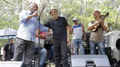 Moisés da Rocha, Osvaldinho da Cuíca e Biro do Cavaco. Show 40 anos da Rádio USP. 2017/10/11 Foto: Marcos Santos/USP Imagens