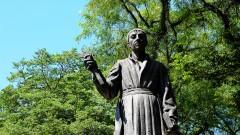 reg. 044 Centro de São Paulo multidão. Vista da catedral da Sé em São Paulo. Estátua de Padre José de Anchieta. 23/02/2016 Foto: Marcos Santos/USP Imagens