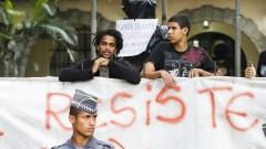 Detalhe de estudantes que participam da ocupação da Escola Estadual Fernão Dias Paes (Pinheiros). Foto: Marcos Santos/Jornal da USP