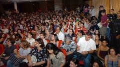 Participantes na palestra do Ministro da Saúde Alexandre. Foto: Cecilia Bastos / Jornal da USP