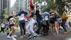 """Participantes da 20ª da Parada do Orgulho LGBT de São Paulo com o tema """"Lei de identidade de gênero, já! - Todas as pessoas juntas contra a Transfobia!"""" 29.05.2016 foto: Cecília Bastos/Usp Imagens"""