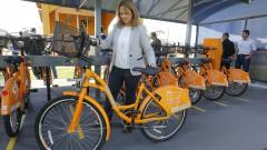FZEA. Professora Patrícia Iglecias. Novo sistema dde bicicletas compartilhadas no  campus de Pirassununga. 2017/05/02 Foto: Marcos Santos/USP Imagens