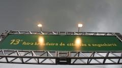 Detalhe de letreiro na entrada da 13ª Feira Brasileira de Ciências e Engenharia (FEBRACE 2015). Foto: Marcos Santos/USP Imagens