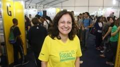 Detalhe da coordenadora da FEBRACE 2015, professora Roseli de Deus Lopes. Foto: Marcos Santos/USP Imagens