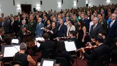 Apresentação da Orquestra Sinfônica da USP e Coral da USP na Posse dos novos Reitor e Vice-Reitor da USP . Foto: Cecília Bastos/USP Imagem