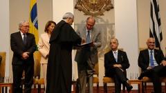 Assinatura do Termo de Posse dos novos Reitor e Vice-Reitor da USP Vahan Agopyan e Antonio Carlos Hernandes. Foto: Cecília Bastos/USP Imagem