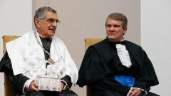 Posse dos novos Reitor e Vice-Reitor da USP Vahan Agopyan e Antonio Carlos Hernandes. Foto: Cecília Bastos/USP Imagem