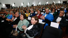 Sessão Solene do Conselho Universitário para a posse dos novos Reitor e Vice-Reitor da USP Vahan Agopyan e Antonio Carlos Hernandes. Foto: Cecília Bastos/USP Imagem