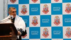 O professor Vahan Agopyan em seu discurso de posse como novo Reitor da USP . Foto: Cecília Bastos/USP Imagem