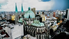 Vista do alto (telhados) da Catedral da Sé da cidade de São Paulo que fica na região central. Foto: Cecília Bastos/Jornal da USP