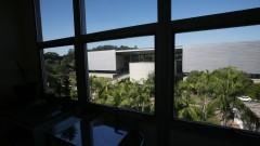 Vista do complexo da Biblioteca Brasiliana Guita e José Mindlin à partir de janela do Prédio da Administração Central. Foto: Marcos Santos/USP Imagens