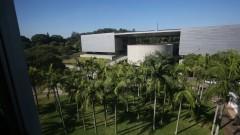 Vista do complexo da Biblioteca Brasiliana Guita e José Mindlin à partir do Prédio da Administração Central. Foto: Marcos Santos/USP Imagens