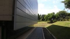 Vista lateral da Biblioteca Brasiliana Guita e José Mindlin. Foto: Marcos Santos/USP Imagens