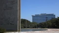 Vista parcial da torre da Praça do Relógio e ao fundo Prédio da Reitoria. Foto: Marcos Santos/USP Imagens
